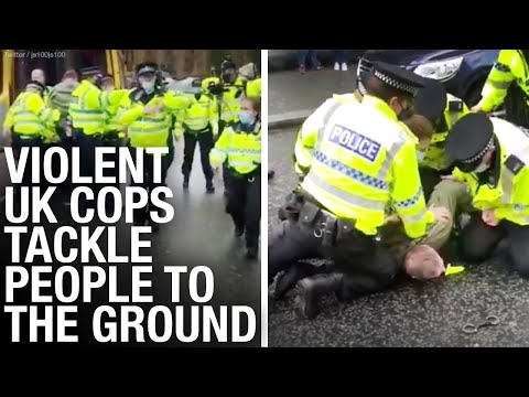 U.K. police USE FORCE with lockdown protesters, but treat BLM, Extinction Rebellion with kid gloves