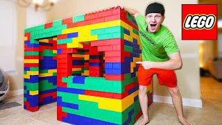BUILDING WORLDS BIGGEST LEGO HOUSE! (LIFE SIZE)