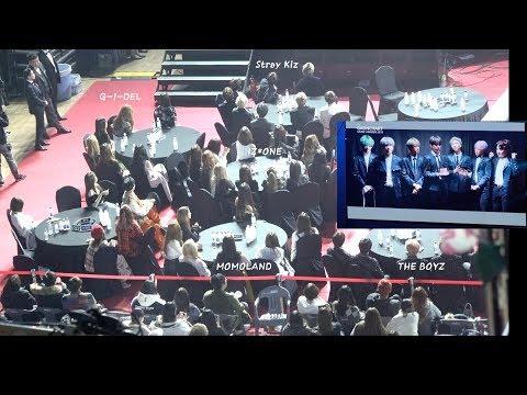 IZ*ONE, Stray Kids, MOMOLAND, (G) I-DLE, The Boyz Reaction to 방탄소년단(BTS) 공헌상 (VCR) 4K 190123