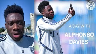 One day with Alphonso Davies
