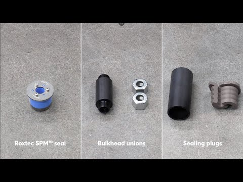 Pipe seals, bulkhead unions or sealing plugs? A comparison video by Roxtec