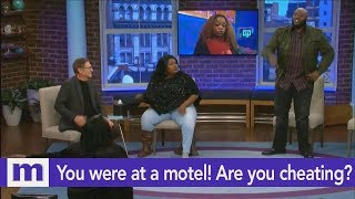 I caught you at the motel...Are you cheating? | The Maury Show
