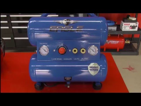 video Eagle P3120H1 Horizontal Air Compressor w/ belt drive