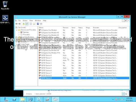 IQFSP installation and use demonstration on Windows Server 2012