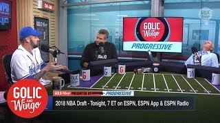 Trey Wingo falls asleep during NBA comparisons for Luka Doncic | Golic & Wingo | ESPN