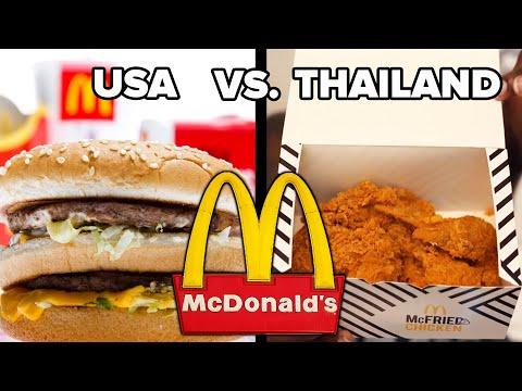 Trying American Vs. Thai McDonald's