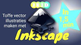 Inkscape in 1,5 min - Ontwerp je logo en vette vector kunstwerken