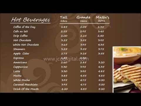 Mattus Coffee Digital Menu Boards, #5