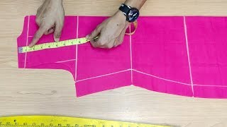 Collar Kurti, Suit, Cuttting Easy method step by step