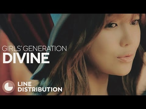 GIRLS' GENERATION - DIVINE (Line Distribution)