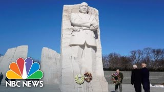 President Donald Trump Lays Wreath At MLK Memorial Statue | NBC News