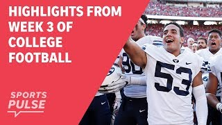 Top highlights from Week 3 of college football