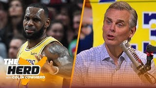 Colin reacts to LeBron's regular season debut with the Los Angeles Lakers   NBA   THE HERD
