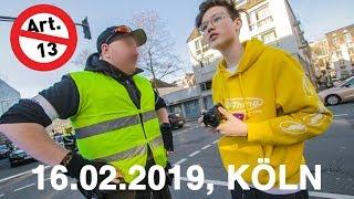Demonstration gegen Artikel 13 in Köln (16.02.2019)