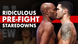 10 Ridiculously Hilarious Pre-Fight Staredowns