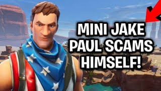 Mini Jake Paul Scams Himself! (Scammer Gets Scammed) Fortnite Save The World