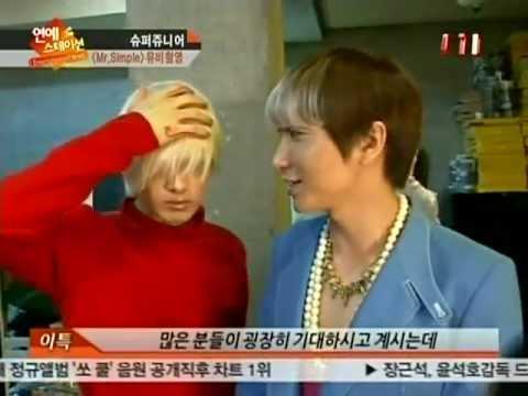 110809 ETN Entertainment Station: Super Junior's Mr.Simple photoshoot + MV making of