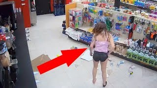 10 FUNNIEST THEFTS CAUGHT ON CAMERA