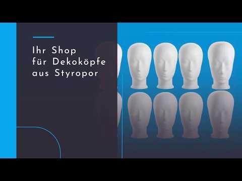 Dekokopf Styroporköpfe. Hochwertige Styroporköpfe aus deutscher Herstellung