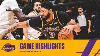 HIGHLIGHTS | Anthony Davis (25 pts, 7 reb) vs Denver Nuggets