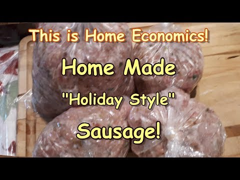 Home Made Holiday Style Sausage Meat!
