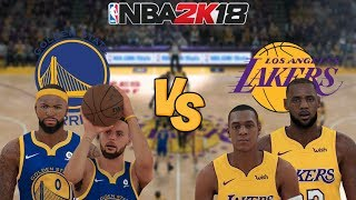 NBA 2K18 - Golden State Warriors (Cousins!) vs. Los Angeles Lakers (LeBron & Rondo!) - Full Gameplay