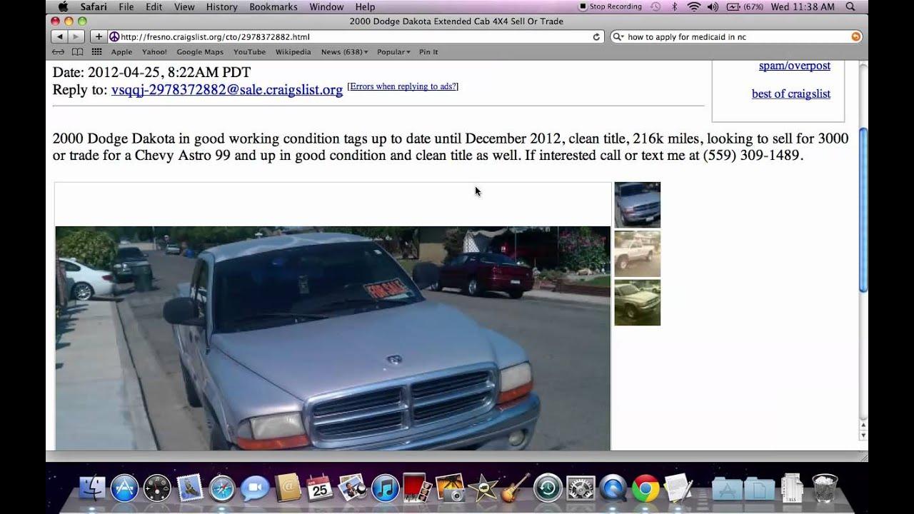 Cars For Sale Craigslist Fresno