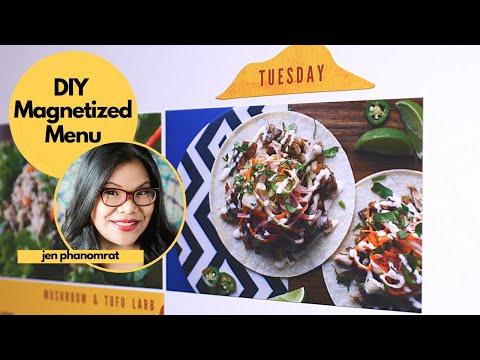 This DIY Magnetized Menu Makes Meal Prep So Much Easier