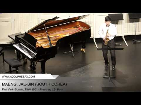 Dinant 2014 - Maeng, Jae-Bin - First Violin Sonata, BWV 1001 - Presto by J.S. Bach