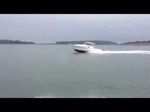 385 Pursuit.. final sea trials before delivery