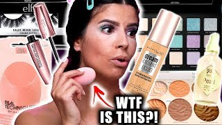 I TRIED NEW DRUGSTORE MAKEUP LAUNCHES.... only some of it worked.