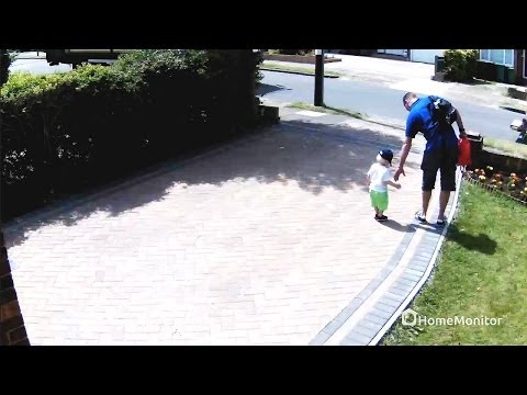 HomeMonitor HD Pro Demo Footage - Outdoor WiFi Security Camera