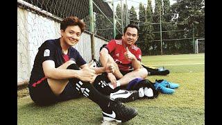Ngô Kiến Huy fan cuồng bóng đá và thách thức đá trúng xà ngang