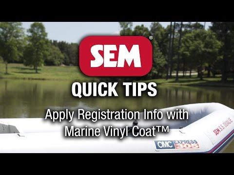 SEM Quick Tip: Marine Vinyl Coat