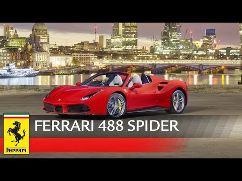 Ferrari 488 Spider launched in London
