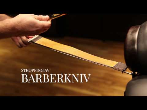 Stropping av barberkniv