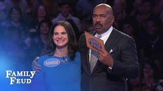 HUGE final answer! Incredible Fast Money COMEBACK!!!   Family Feud