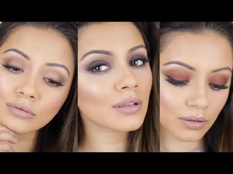 Urban Decay Naked Ultimate Basics Palette Tutorial ?? THREE looks + SWATCHES & REVIEW