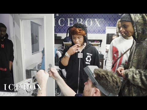 Trippie Redd Shoots A Laser At Icebox!