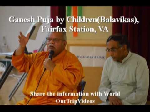 Pictures of Ganesh Puja by Children at Durga Temple(Balavikas), Fairfax Station, VA, US