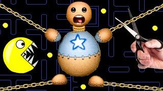Kick The Buddy vs Pac-man vs Saw Blade | Pacman Stop Motion Game