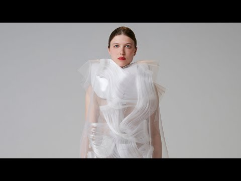 Ying Gao's dresses become animated in the presence of strangers