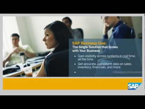Simmex SAP Business One - The Single Solution That Grows With Your Business