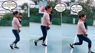 Sania Mirza shows CUTE way of exercising as a mother when ..