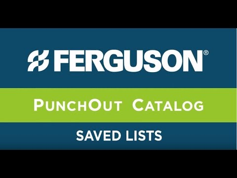 Ferguson Punch-Out Catalogs - Saved Lists