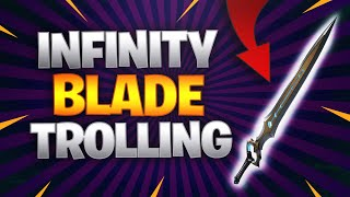 INFINITY BLADE TROLLING IN PLAYGROUNDS FILL! (FUNNY REACTIONS)