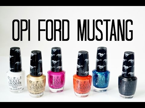 Review and Swatches: OPI Ford Mustang Collection