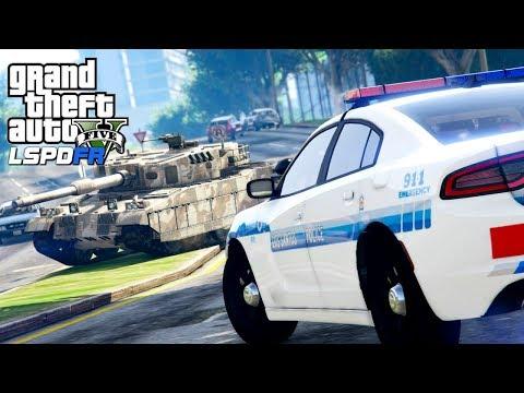 GTA 5 Police Mod   LSPDFR #132 - Joyriding In A Military Tank