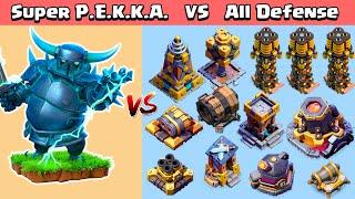 Super PEKKA VS All Defenses | Clash of Clans