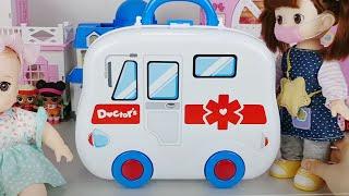 Baby doll doctor and hospital car toys Ambulance play 아기인형 의사와 병원놀이 자동차 장난감 구급차 놀이 - 토이몽